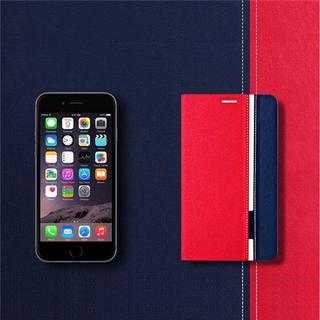 和風 スマホケース/レザー 手帳型 iPhone8/ブラック