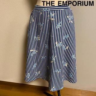 THE EMPORIUM - 【THE EMPORIUM】ジエンポリアム 花柄 ストライプ  フレアスカート
