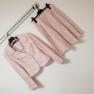 M'S GRACY - スーツ ツイード ママ ピンク 入園式 アナイ シャネル ハロッズ トッカ ルネ