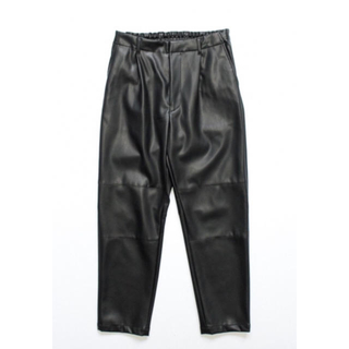 SUNSEA - Stein FakeLeatherTrousers ダークチャコール
