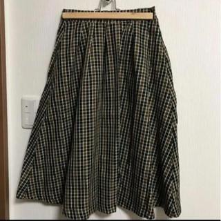 セブンデイズサンデイ(SEVENDAYS=SUNDAY)のチェックスカート(ひざ丈スカート)
