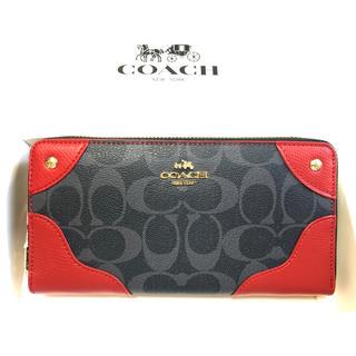 COACH - 新品未使用品★コーチ アコーディオン長財布 シグネチャー 53780デニムレッド