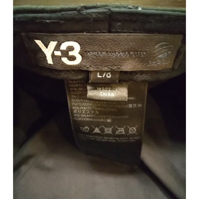 Y-3(ワイスリー)のY-3 キャップ 黒 サイズL メンズの帽子(キャップ)の商品写真