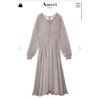 Ameri VINTAGE - UNDRESSED GRACEFUL HALF LACE DRESS ベージュ