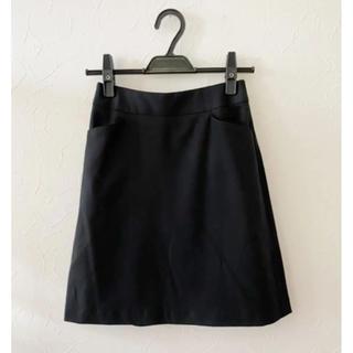 アールユー(RU)の★お値下げ!丸井ru♡春物♫黒スカート♡小さいサイズ★(ひざ丈スカート)