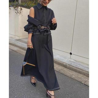 Ameri VINTAGE - GENTLEWOMAN OVERLAP DRESS   AMERI  黒 S