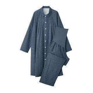 MUJI (無印良品) -  新品   無印良品  脇に縫い目のない二重ガーゼ授乳に便利な長袖パジャマ