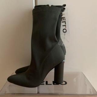 イエローブーツ(Yellow boots)の値下げ YELLO  ショートブーツ カーキ(ブーツ)