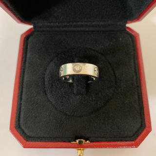 Cartier - カルティエ ラブリング ハーフダイヤ ホワイトゴールド 10号
