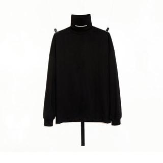 ピースマイナスワン(PEACEMINUSONE)のPEACEMINUSONE PMO TURTLE NECK #1 BLACK(Tシャツ/カットソー(七分/長袖))
