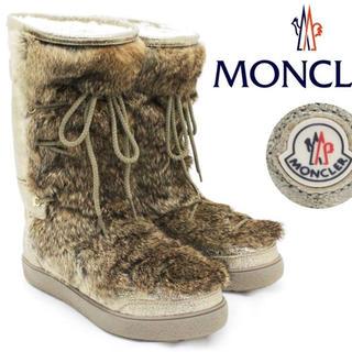 モンクレール(MONCLER)の23万新品★モンクレール★ムートンブーツ★38(ブーツ)