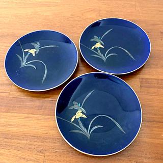 コウランシャ(香蘭社)の美品 ☆ 香蘭社 瑠璃蘭図銘々皿3枚(食器)
