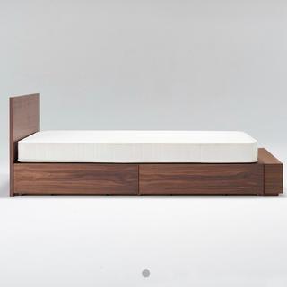 ムジルシリョウヒン(MUJI (無印良品))の【無印良品】収納付きベッド(シングル、ヘッドボード付)(シングルベッド)
