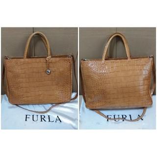 Furla - フルラ FURLA ハンドバッグ ショルダーバッグ 2WAY 型押しレザー