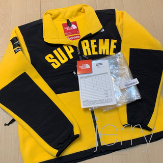 Supreme - 希少 XL Supreme Arc Logo Denali Fleece 黄色
