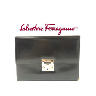 Salvatore Ferragamo - Ferragamo フェラガモ クラッチバッグ セカンドバッグ カーフレザー