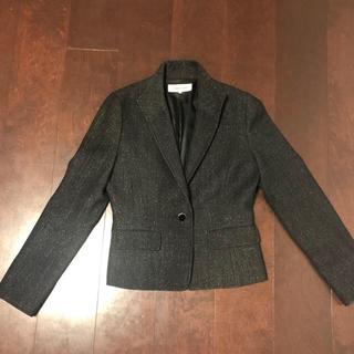 スタイルコム(Style com)のジャケット 黒にシルバー糸(テーラードジャケット)