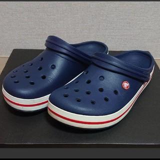 クロックス(crocs)の【使用感あり】crocs 10 ネイビー クロックバンド(その他)
