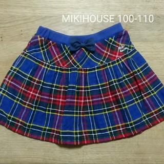 mikihouse - 美品 ミキハウス100-110 チェックスカート