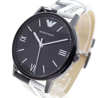 エンポリオアルマーニ(Emporio Armani)のEMPORIO ARMANI 腕時計 メンズ クォーツ ブラック ホワイト(腕時計(アナログ))