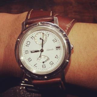 エルメス(Hermes)のエルメスマルジェラ期パワーリザーブクリッパードゥプルトゥール腕時計(腕時計(アナログ))