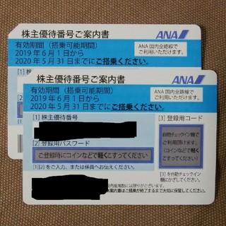 ANA(全日本空輸) - ANA株主優待番号ご案内書×2枚 2020/05/31まで