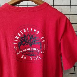 Timberland - インド製 Timberland バックプリント入り 半袖カットソー/Tシャツ