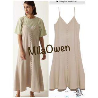 Mila Owen - くるみ釦デザイン2wayキャミワンピース