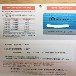 イセタン(伊勢丹)の三越伊勢丹 株主優待カード 限度額30万円(ショッピング)