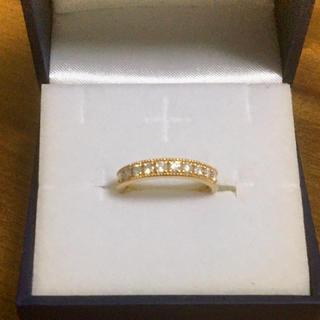 ジュエリーツツミ(JEWELRY TSUTSUMI)のk18ダイアモンドハーフエタニティリング(リング(指輪))