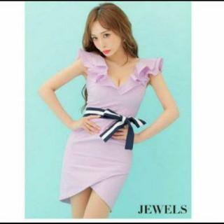 ジュエルズ(JEWELS)のJewels キャバドレス ピンク パープル(ナイトドレス)