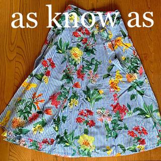 アズノウアズ(AS KNOW AS)のas know as 花柄フレアスカート(ロングスカート)