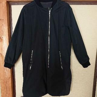 antiqua - アンティカ 裏起毛?フリース ma-1風 ロングブルゾン コートジャケット