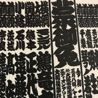 大相撲 3月春場所 2020年 令和二年 番付表 横綱大関 三月 大阪(相撲/武道)
