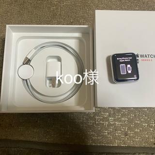 アップルウォッチ(Apple Watch)のアップルウォッチ  シリーズ3 セルラー ステンレス 42mm おまけ付き(腕時計(デジタル))