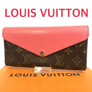 LOUIS VUITTON - ルイヴィトン 財布 三つ折り長財布 モノグラム マリールーロン エピ ピンク