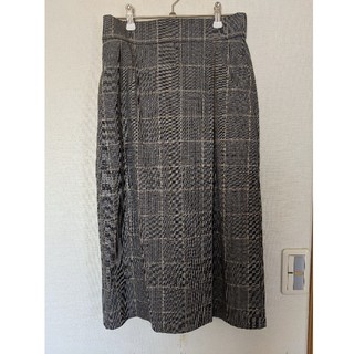 UNIQLO - ユニクロ チェック柄ロングタイトスカート