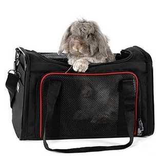 ブラックpetsfit ペットキャリーバッグ 小型犬 うさぎ キャリーバッグ 猫(犬)