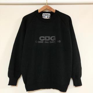 コムデギャルソン(COMME des GARCONS)の新品 コムデギャルソン CDG ロゴ ニット セーター ブラック(ニット/セーター)