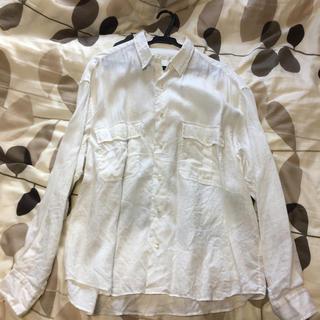 ポーター(PORTER)の2月29日まで出品。ポータークラシックロールアップシャツ リネン ホワイト(シャツ)