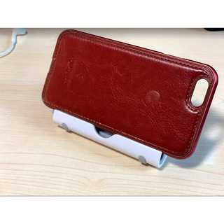 iPhone5/5s/SE ブラウン レザー ハードバンパー Apple 自撮り