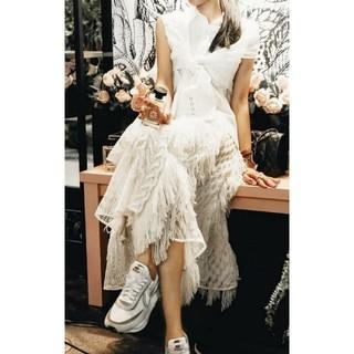 sacai - sacai❤サカイ定価9万 ホワイトレーススカート新品未使用