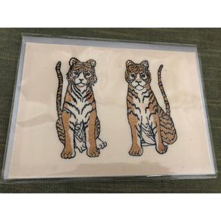 H.P.FRANCE - コーラルアンドタスク 刺繍カード Tiger