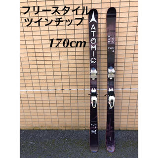 アトミック(ATOMIC)のATOMIC PUNX 170cm+SQUIRE11 ツインチップスキー(板)