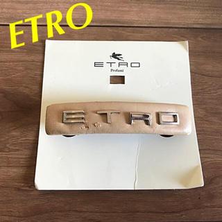 エトロ(ETRO)のイタリー製 ETRO レザーバレッタ(バレッタ/ヘアクリップ)