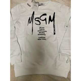 MSGM - 大人も着られる‼️  2020SS 新作✨ MSGM ロゴプリント スウェット