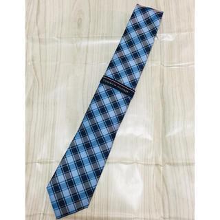 トミーヒルフィガー(TOMMY HILFIGER)のネクタイ 新品未使用 トミーヒルフィガー  正規品 ブルー系 チェック(ネクタイ)