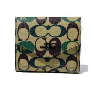 A BATHING APE - BAPE X COACH FLAP WALEET GREEN 財布