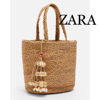 ZARA - ZARA ザラ 新品タグ付 ナチュラル ジュート トート ショルダーバッグ