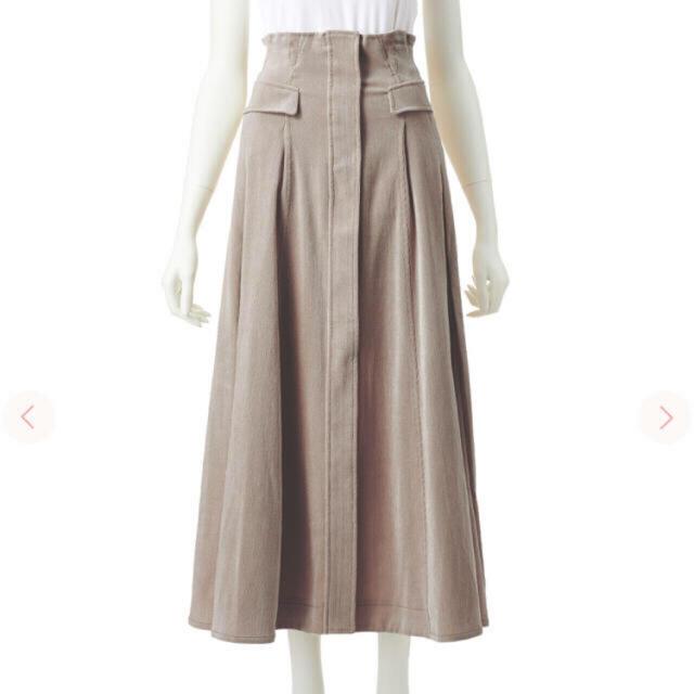COCO DEAL(ココディール)のコーデュロイハイウエストバックレースアップフレアスカート レディースのスカート(ロングスカート)の商品写真